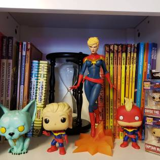 Close Up Comic Shelf
