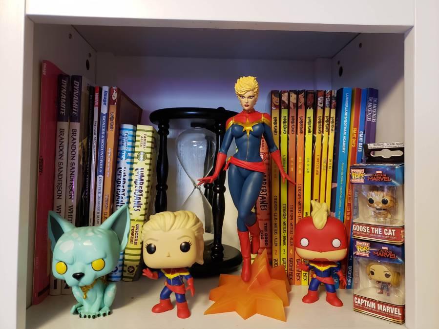 Close Up Comic Shelf
